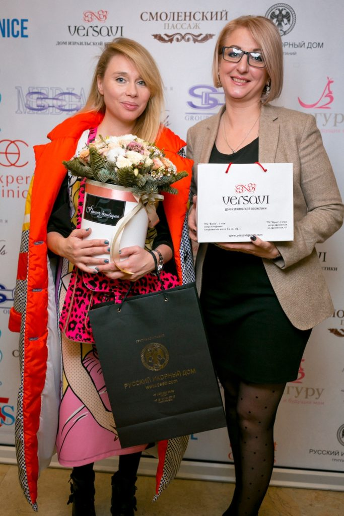 Дизайнер Вика Смоляницкая и партнер мероприятия